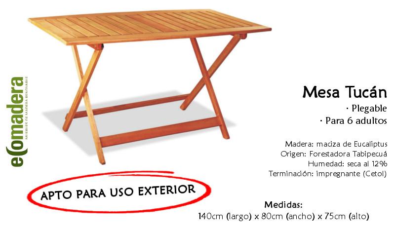 Mesa tuc n plegable 140x80 jard n balc n exteriores for Mesa plegable para balcon
